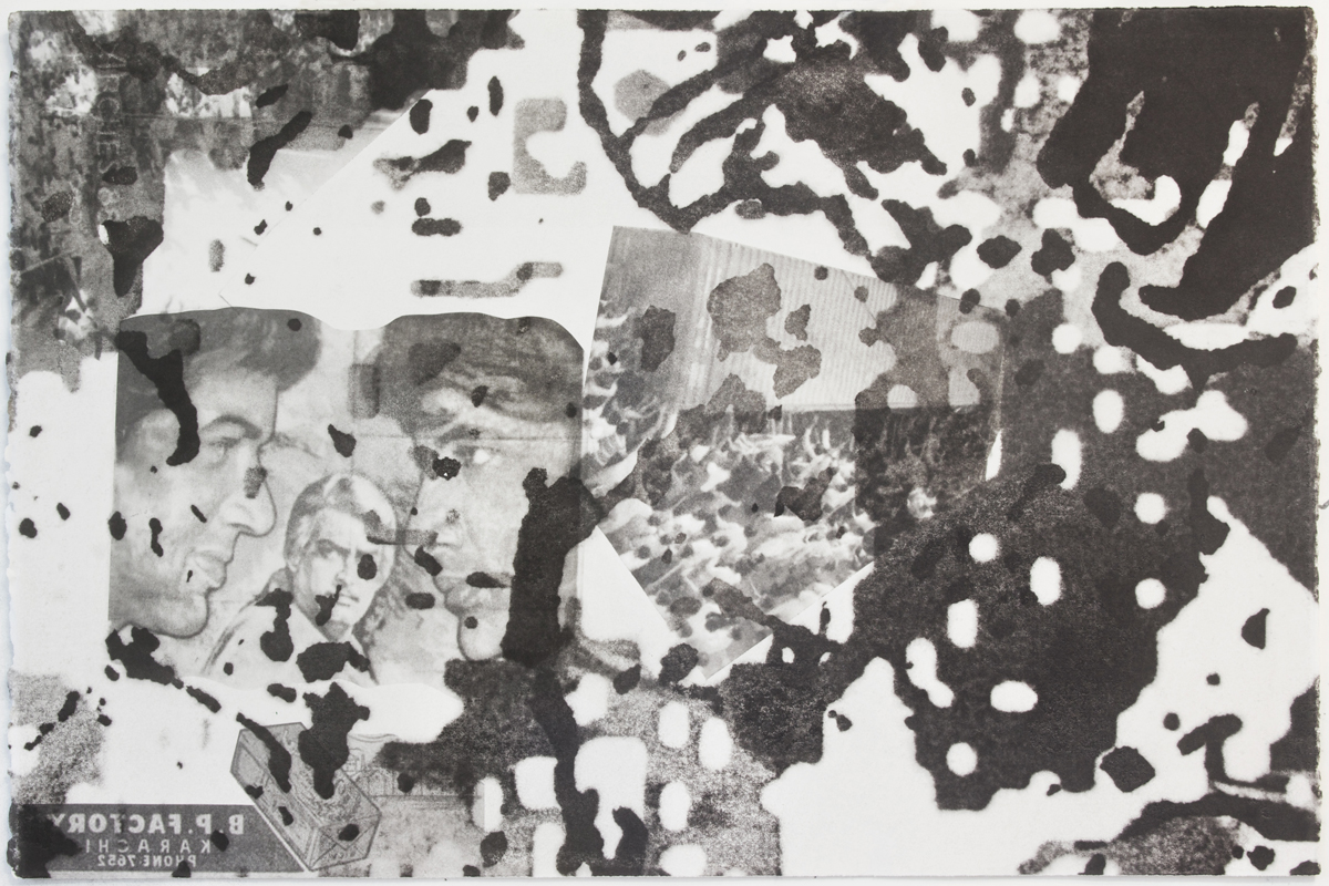 Untitled, 2013 Wintergreen oil Monotype on paper 22 x 30 inches