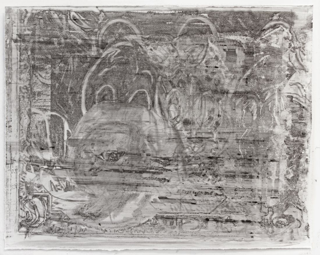 Untitled, 2013 Wintergreen oil Monoprint on paper 22 x 30 inches