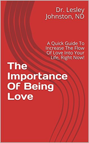 Are you looking for love?  - Could you improve your self-love game?Dr. Lesley's first book teaches you how to increase the flow of love into your life, right now!Click here to purchase The Importance of Being Love today!