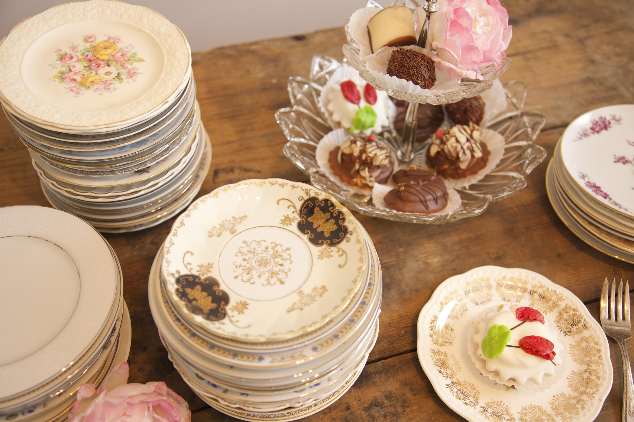 Mismatched China Cake Plates $2.50