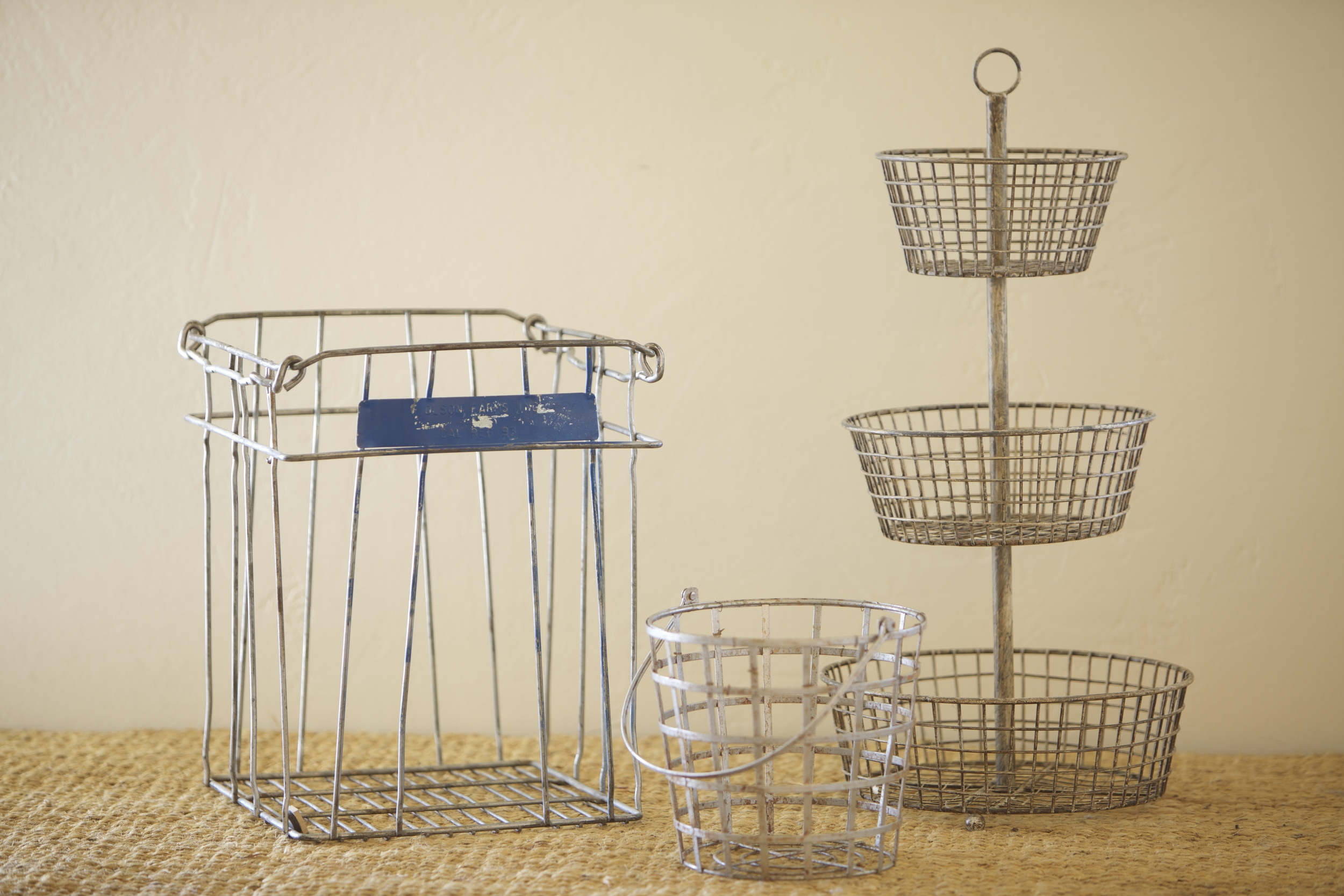 Wire baskets and display