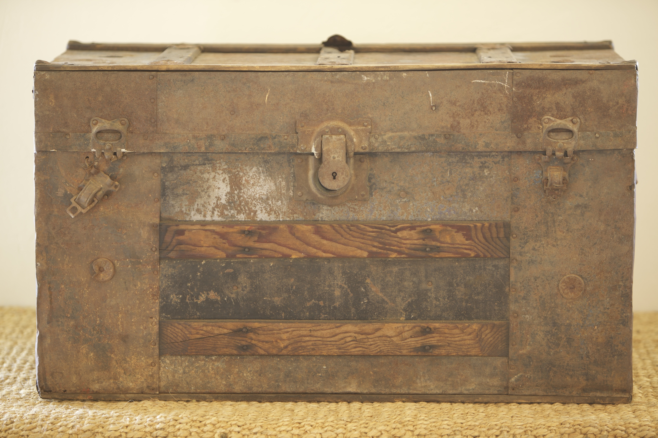 Wooden Steamer Trunk $45
