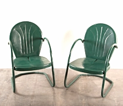 Hunter Green Vintage Chairs $25