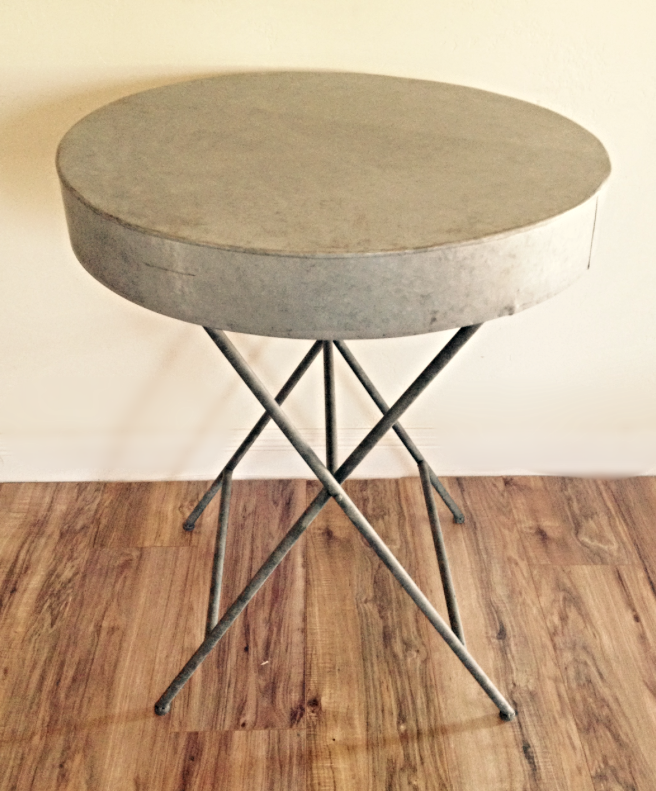 Galvanized Cake/Side Table $55