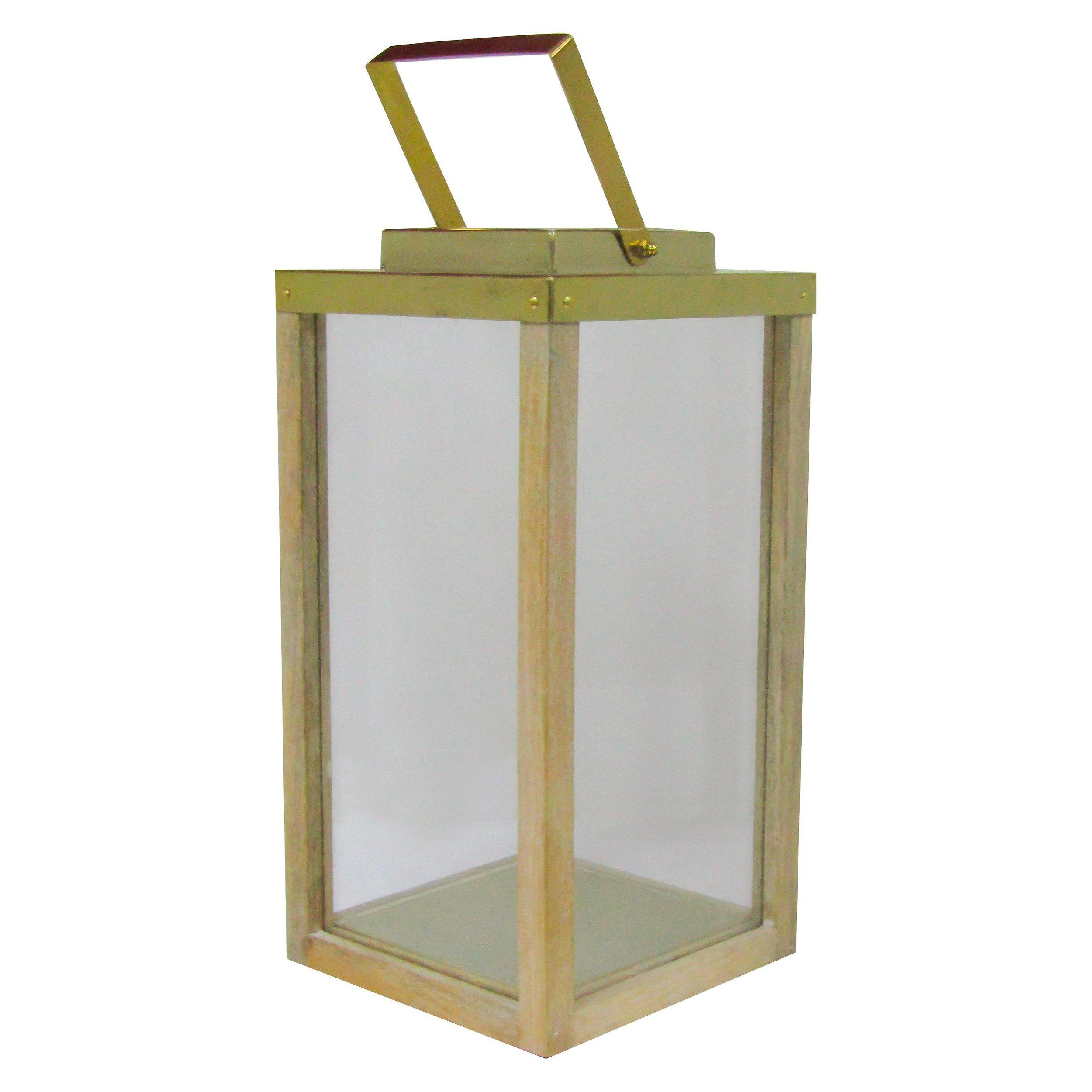 Wood and Brass Lantern  $10