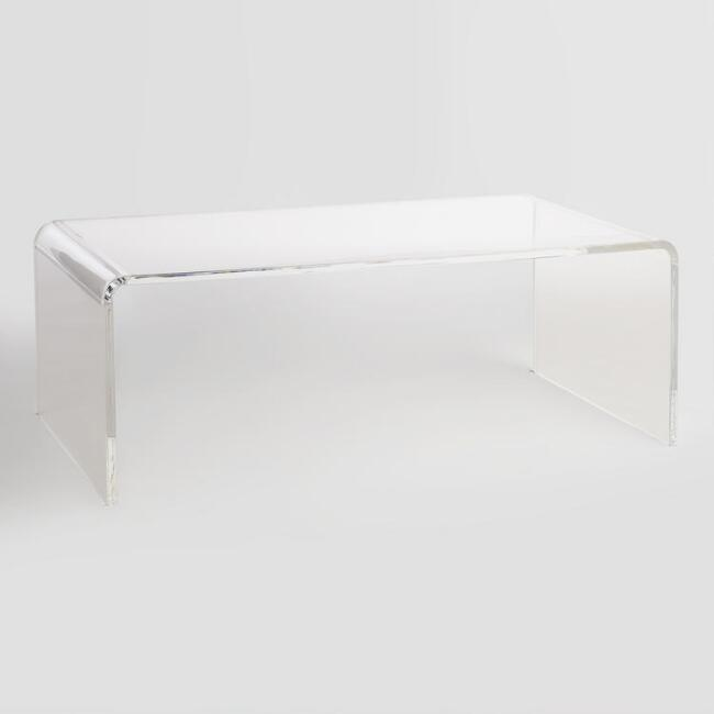 lucite coffee table $60