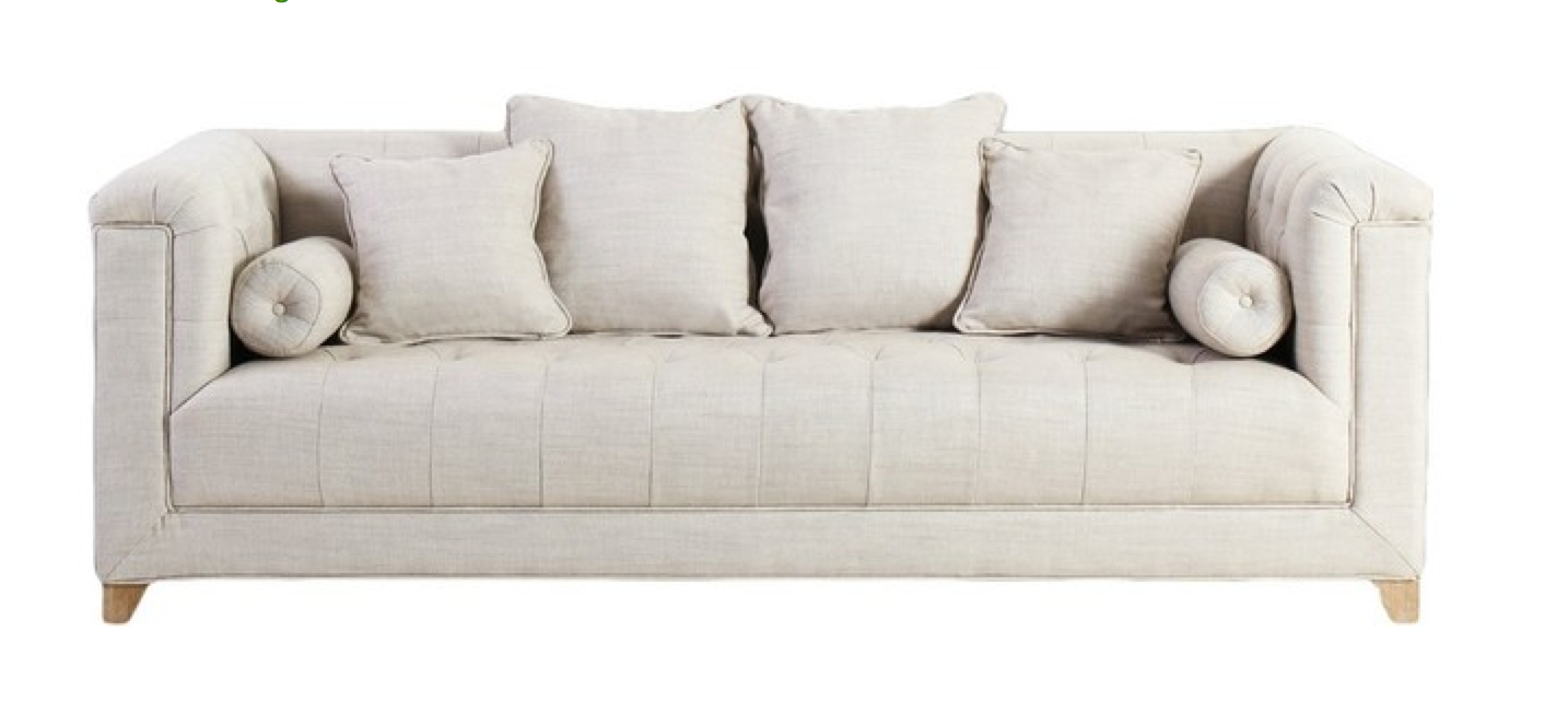 Loft Upholstered Button Sofa $325