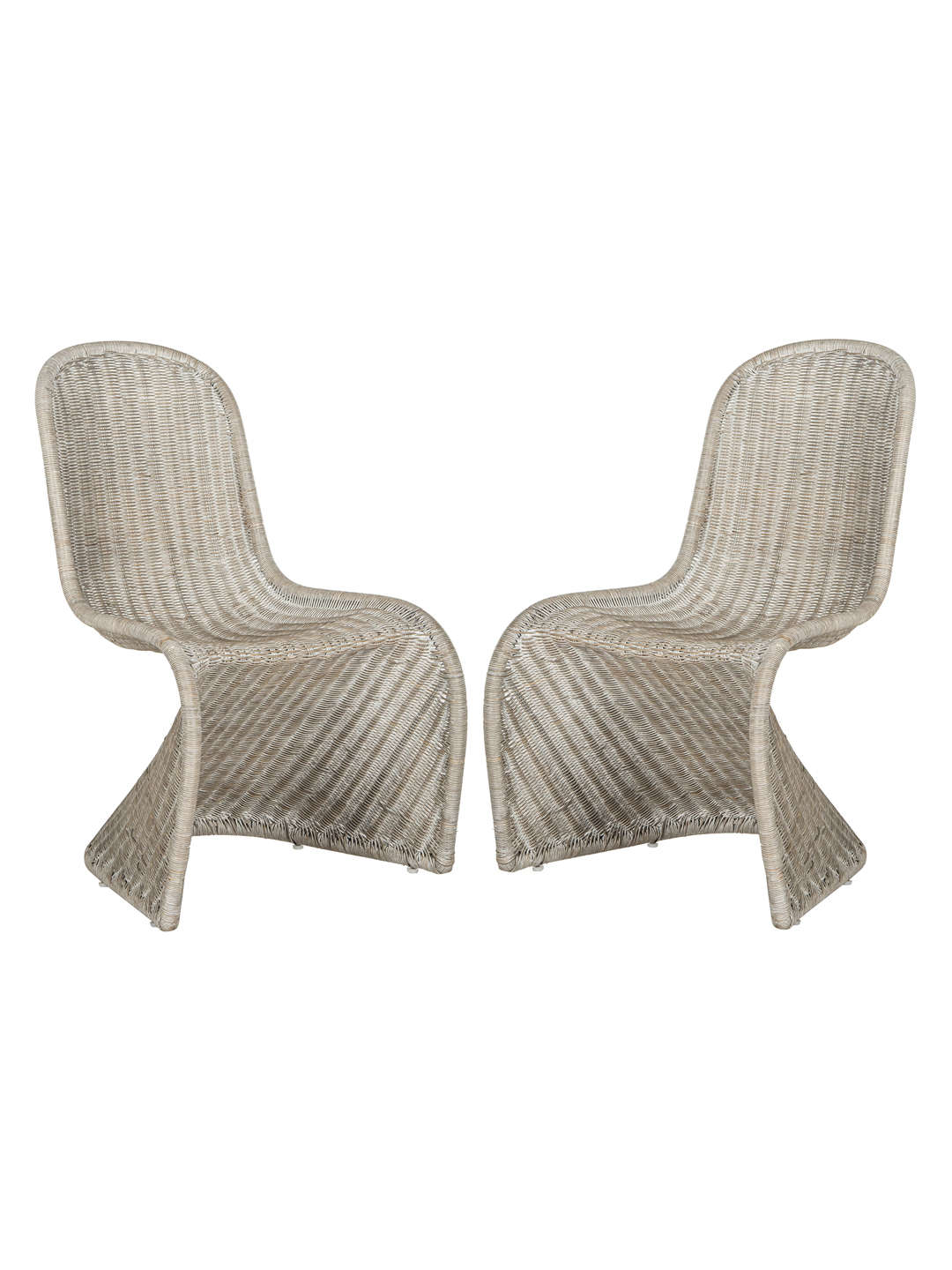 Modern Grey Wicker Chairs (2) $55
