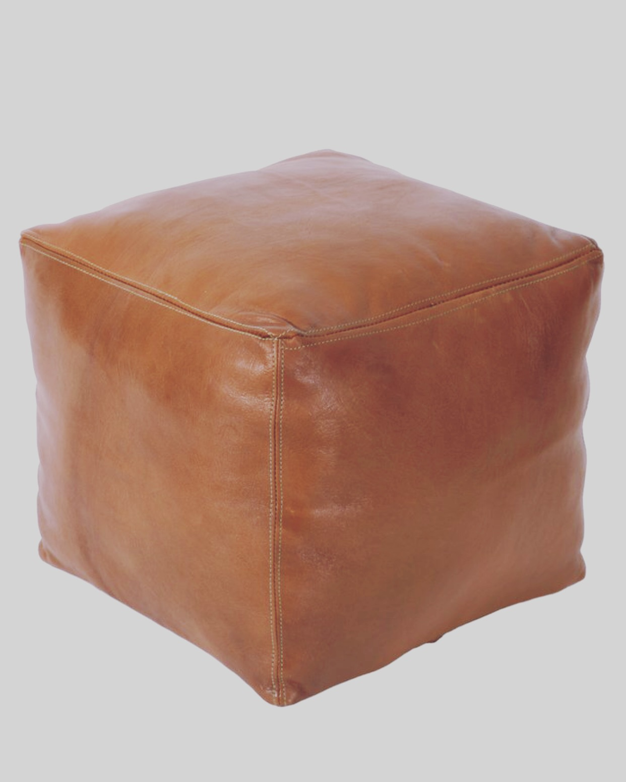 Leather Pouf $45