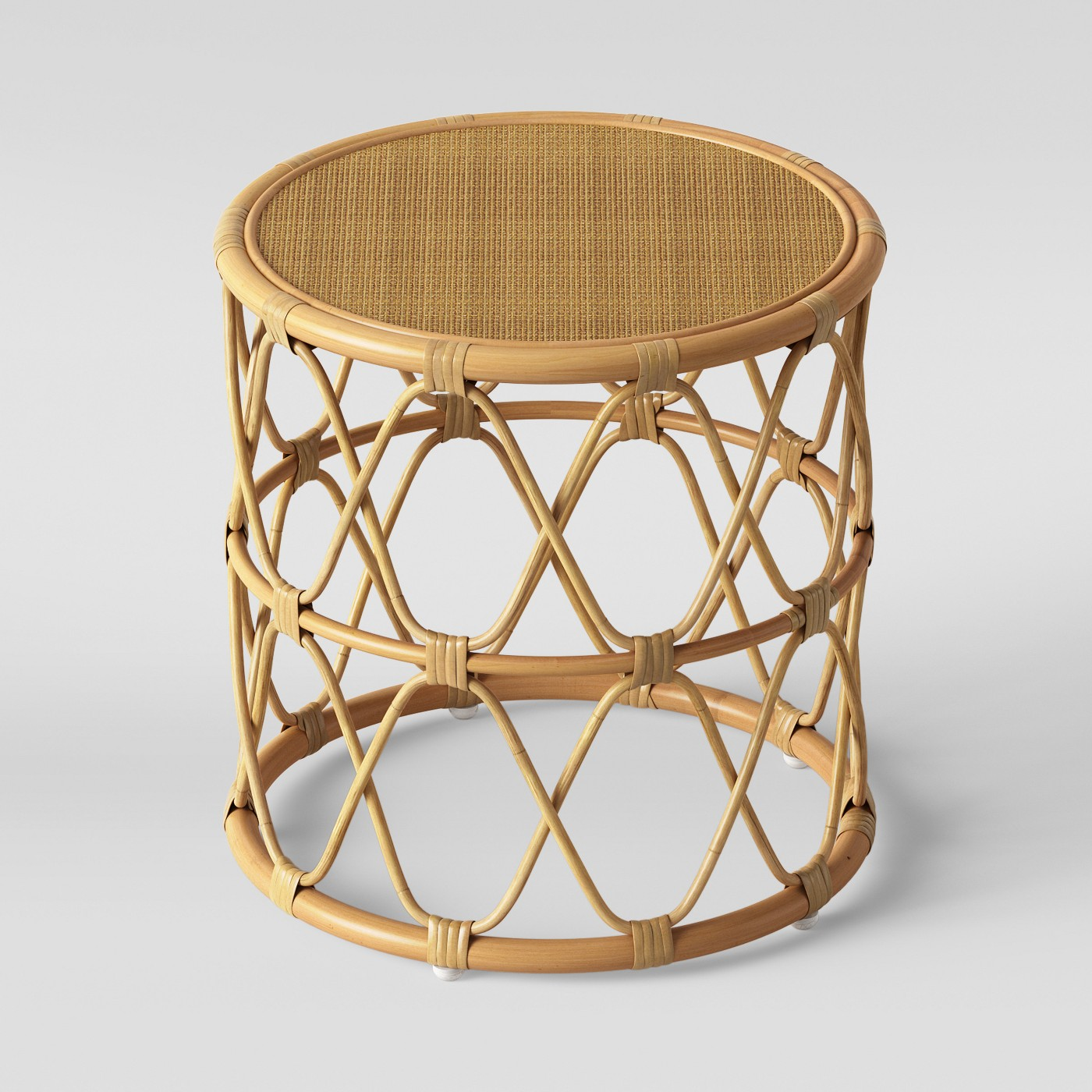 Rattan Side Table $30