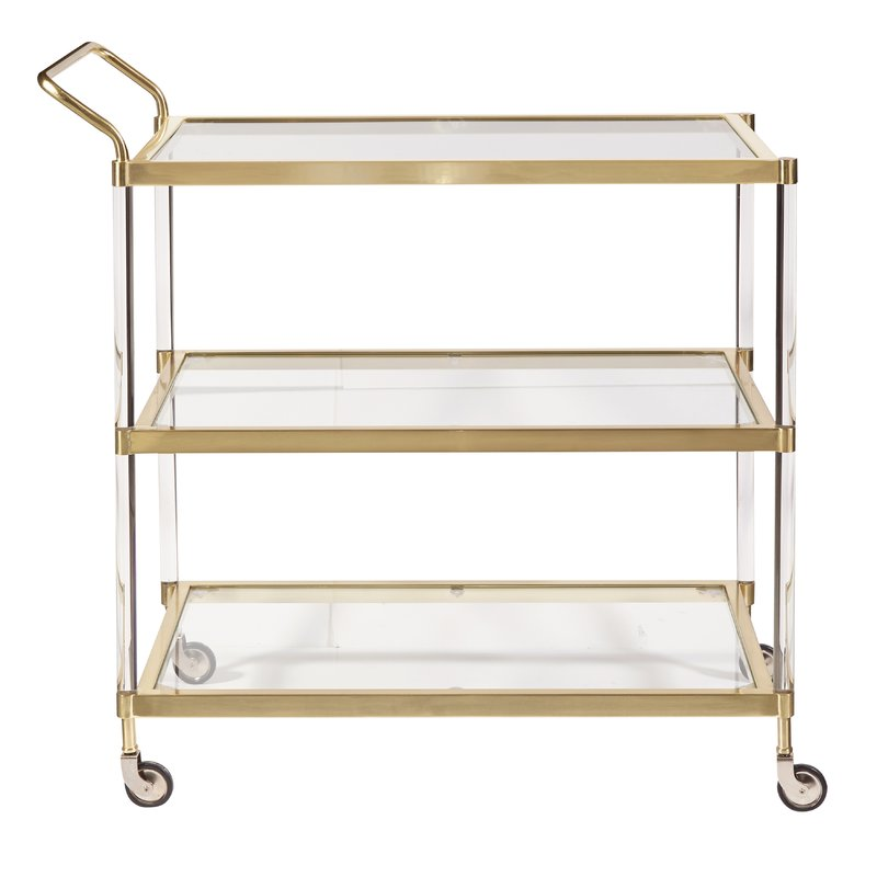 Lucite + Gold Bar Cart $65