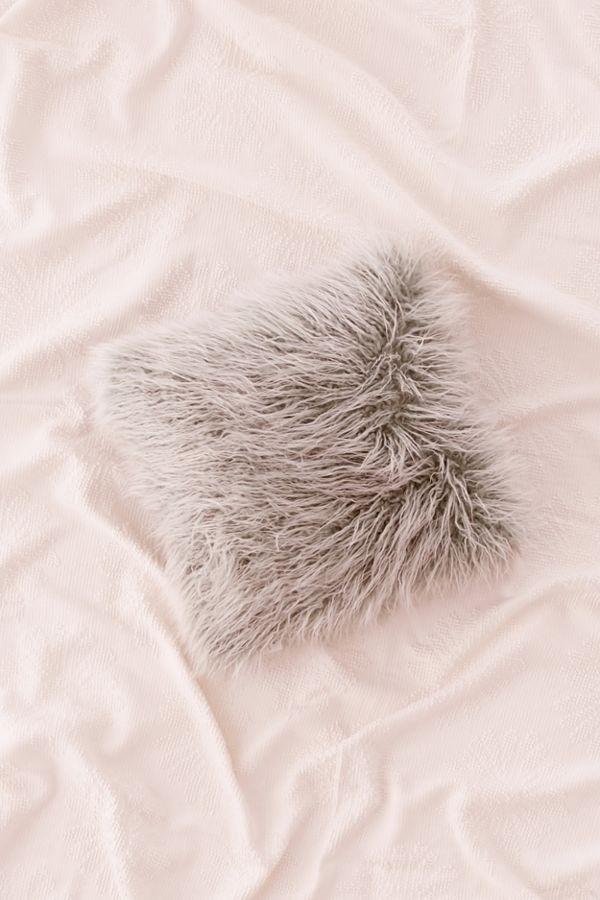 Mint Fur Pillow (2)