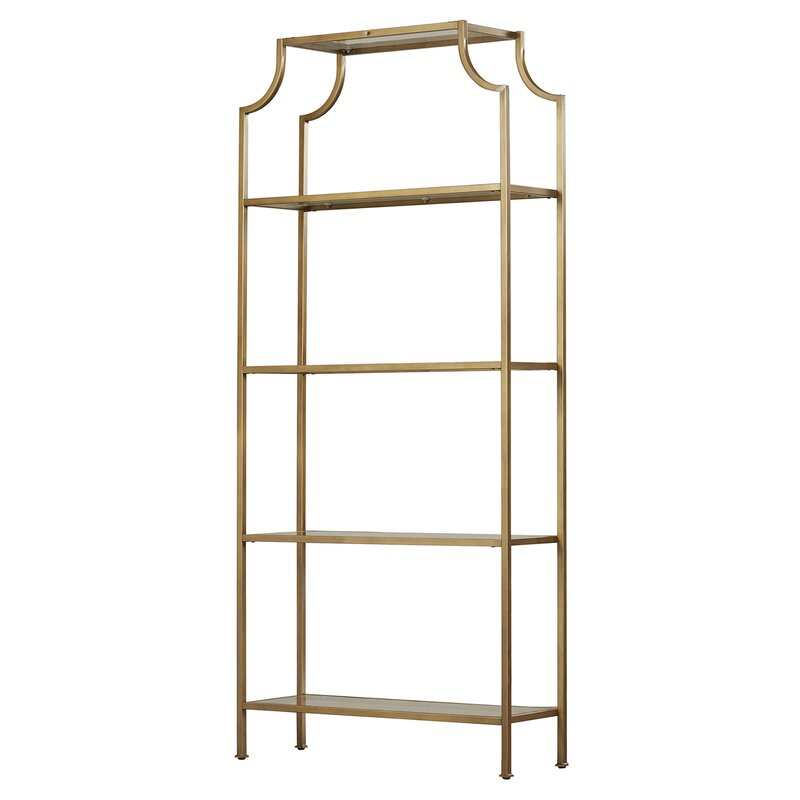 Florence Gold + Glass Shelf $125 (3)