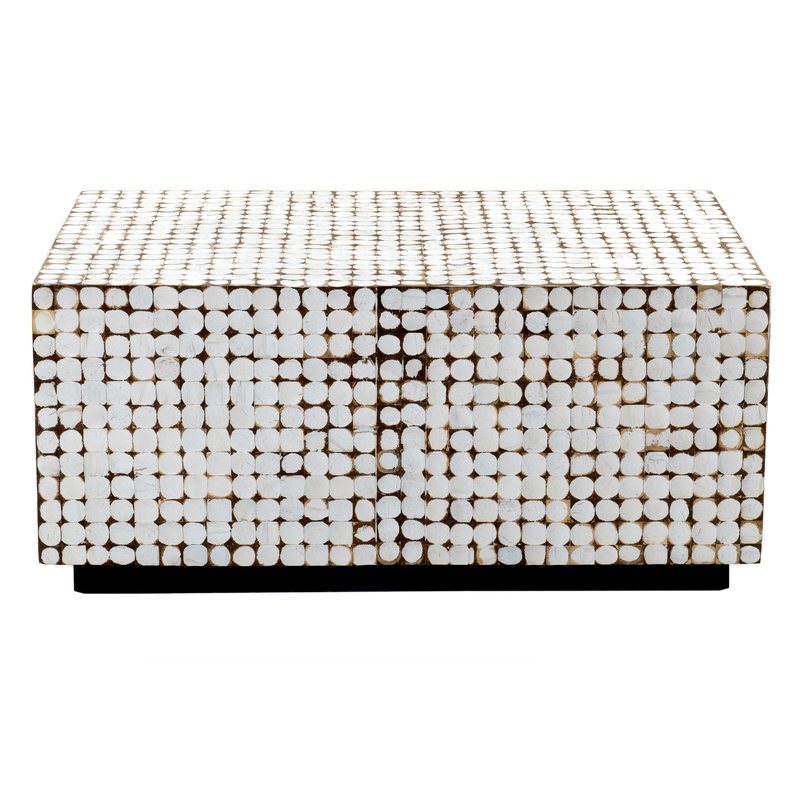 Natural Dot Coffee Table $65