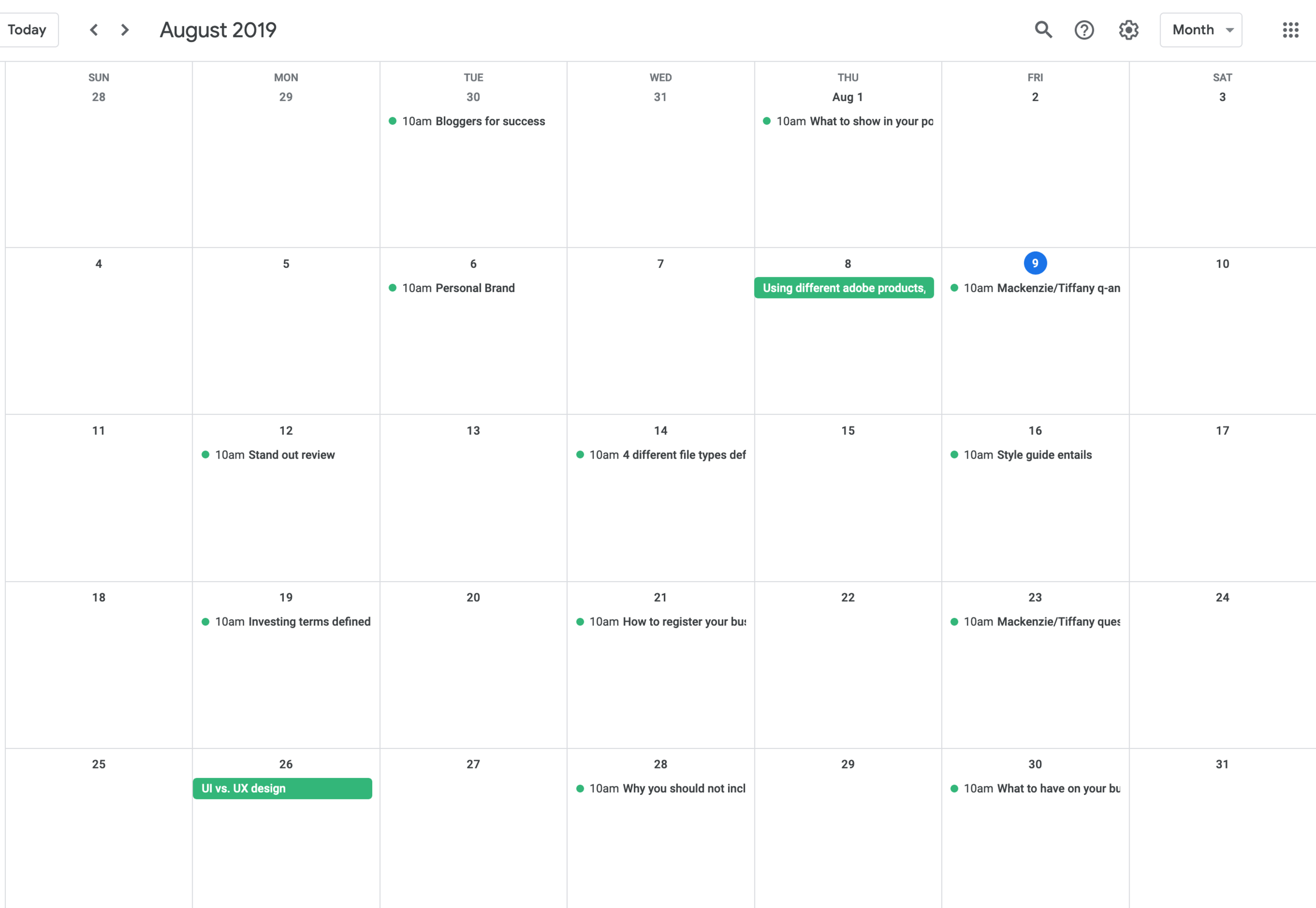 Google Calendar-Blog