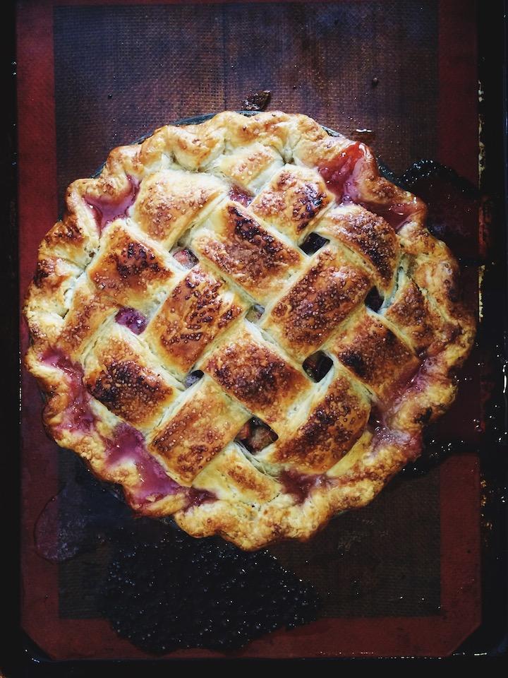 rhubarb and sweet cherry pie (yossy arefi)