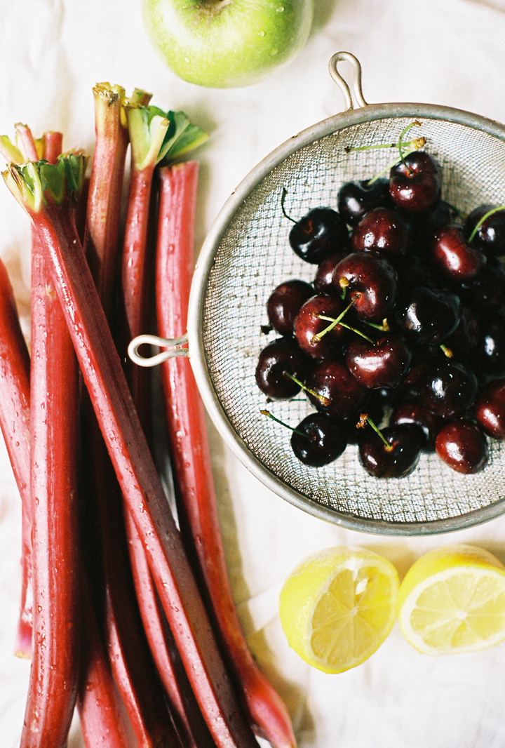 rhubarb and cherry jam (yossy arefi)