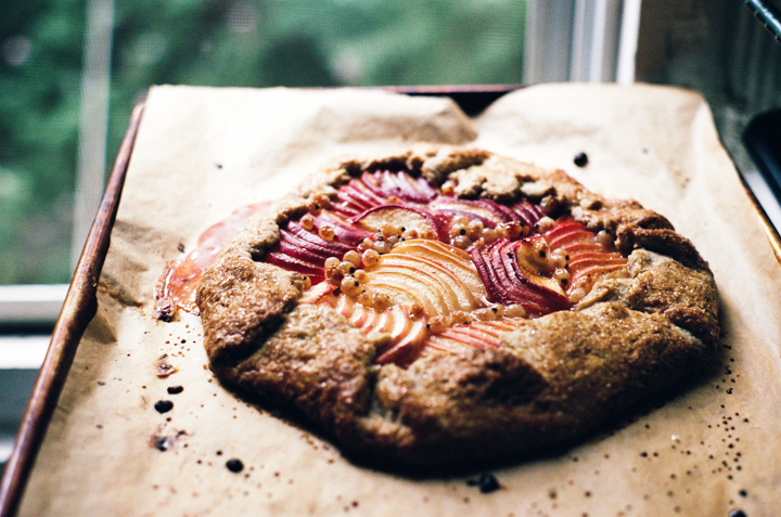 white peach, pecan, and muscovado galette | apt 2b baking co