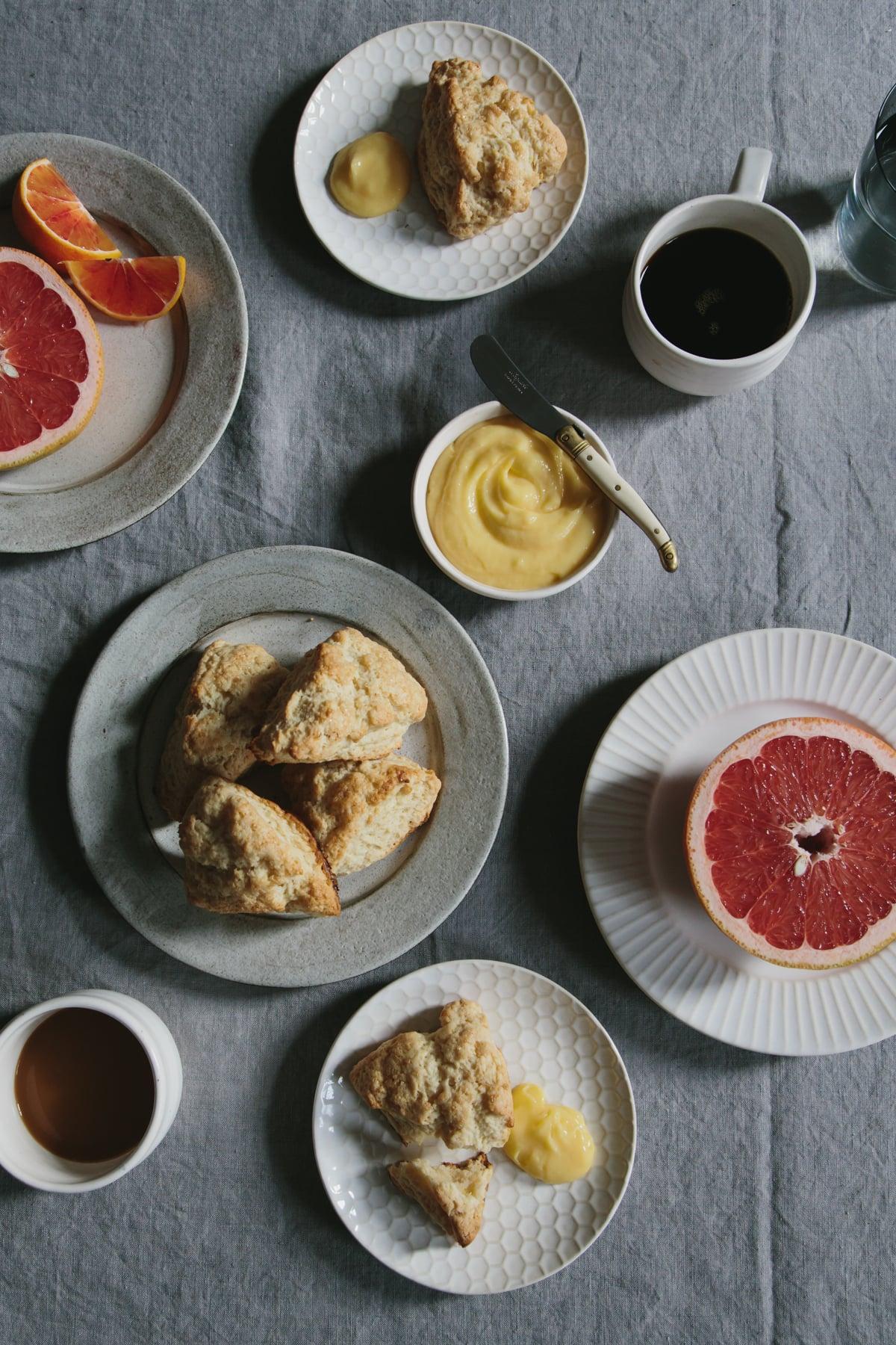 simple cream scones and fancy lemon curd | apt 2b baking co