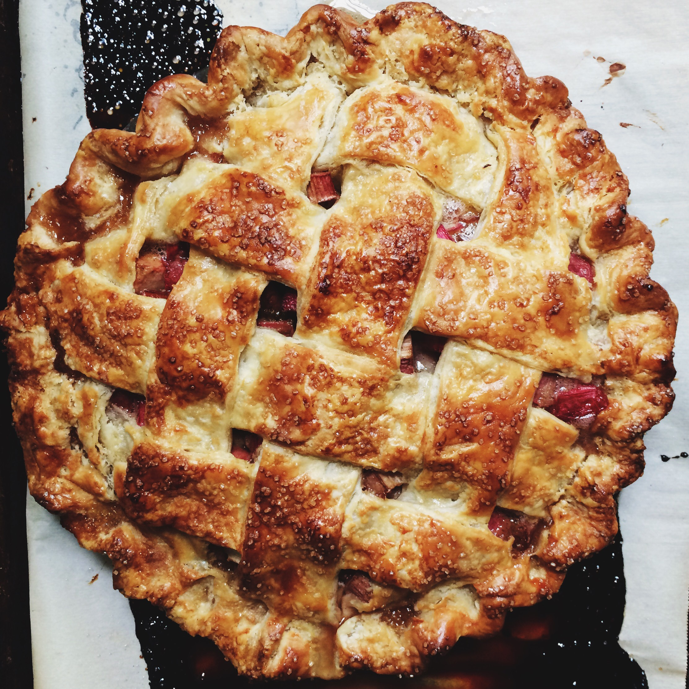 brown sugar rhubarb pie | apt 2b baking co