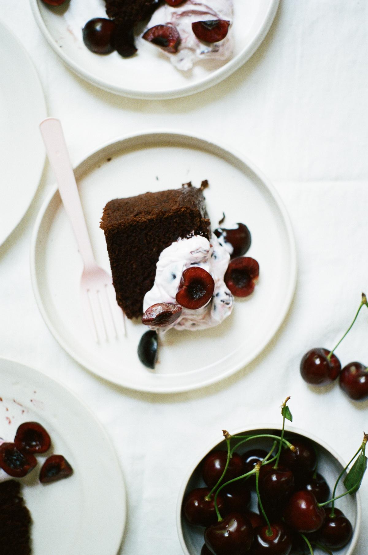 gluten free chocolate cake with cherries | apt 2b baking co