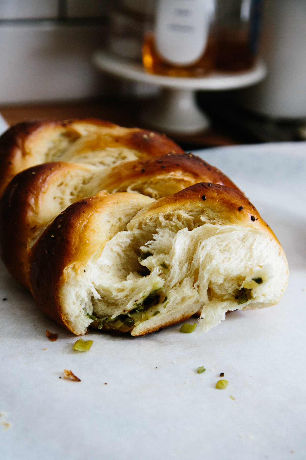 scallion pancake challah | apt 2b baking co