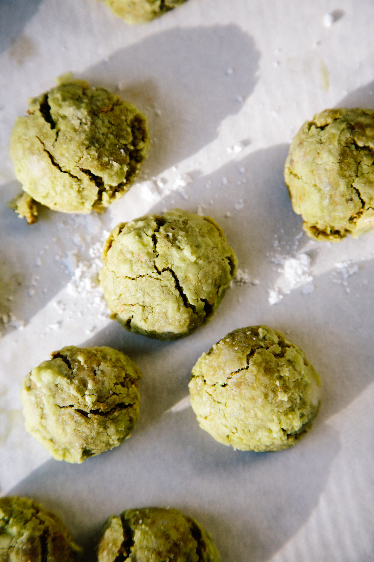 pistachio lime and matcha snowballs | apt 2b baking co
