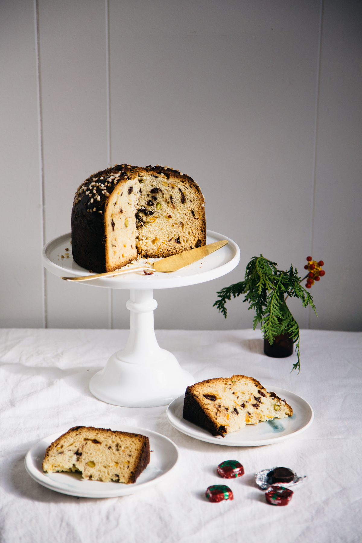 chocolate, cherry, and pistachio panettone | apt 2b baking co