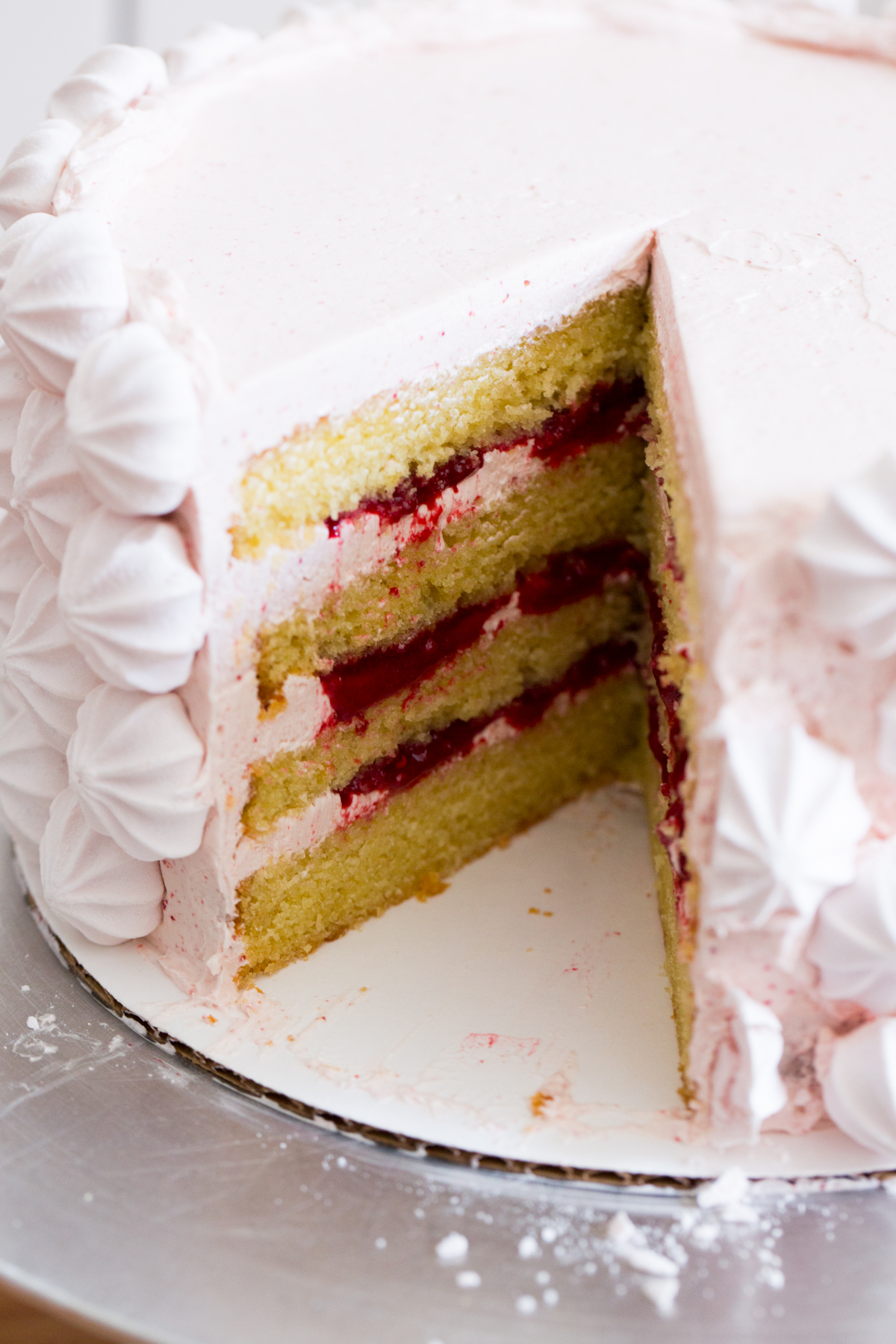 meyer lemon and raspberry cake | apt 2b baking co