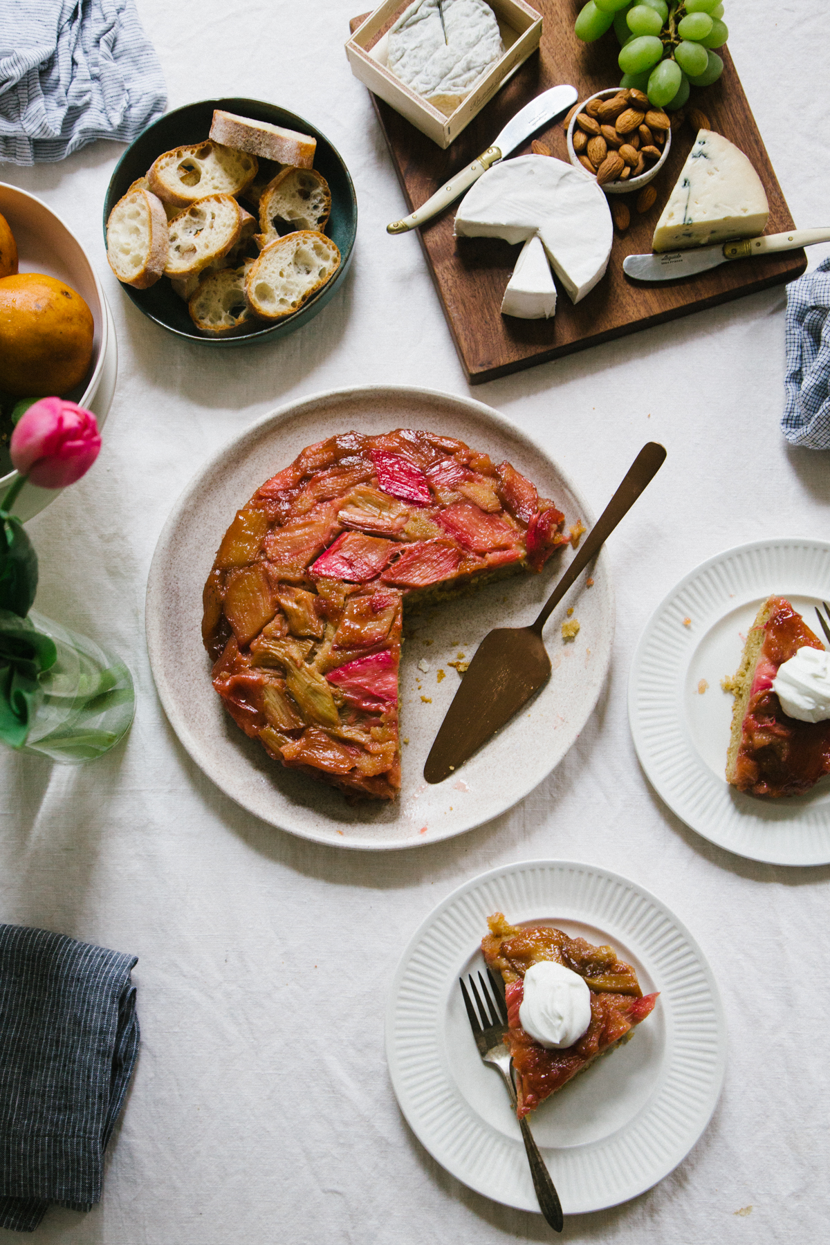 Rhubarb and Rye Upside Down Cake | apt 2b baking co