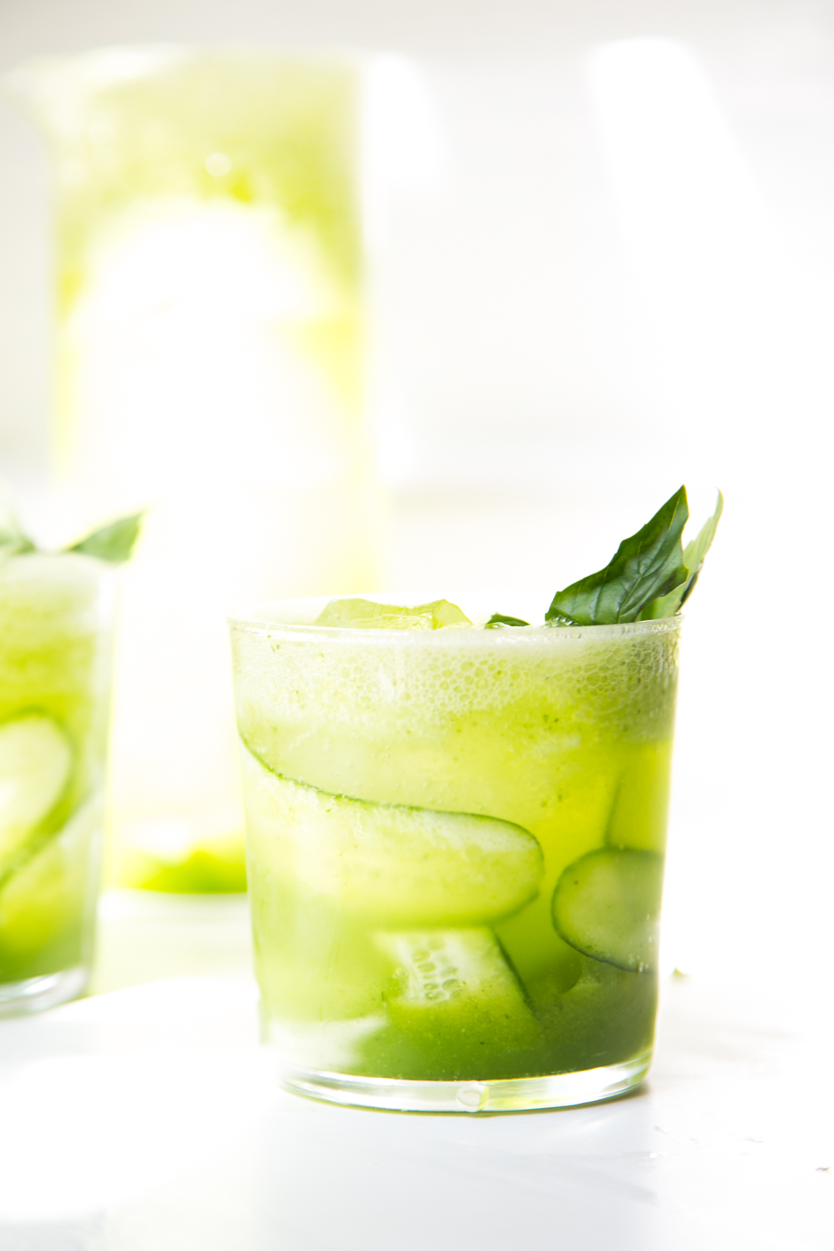 sparkling cucumber and basil lemonade | apt 2b baking co