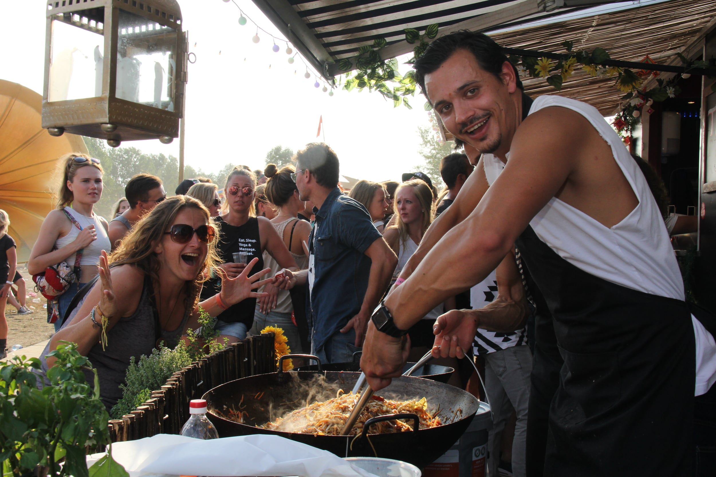 Live cooking @ Solar festival