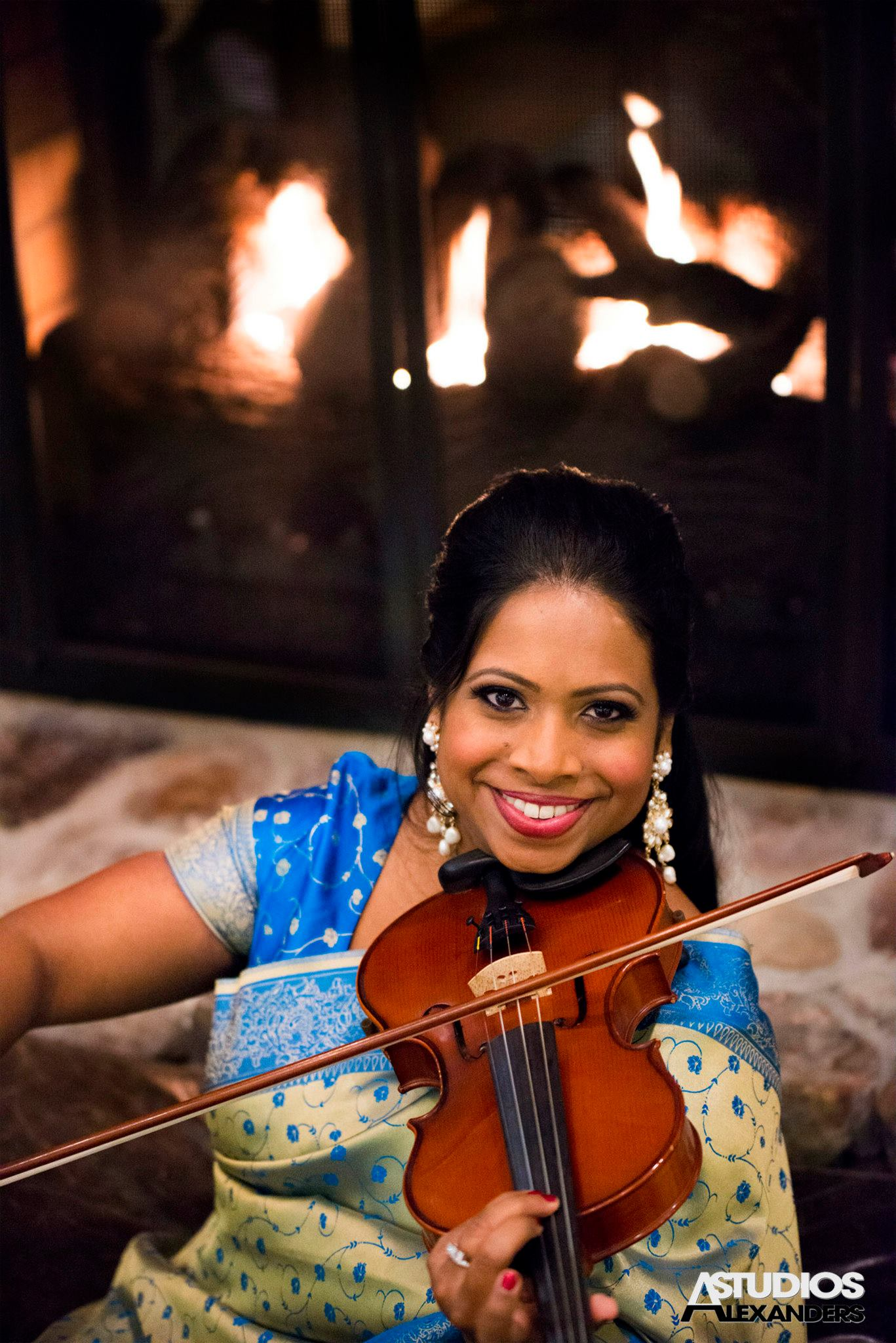Alexanders Studios - Udeshi Hargett Violinist - Wedding Hair by Liz Perniciaro