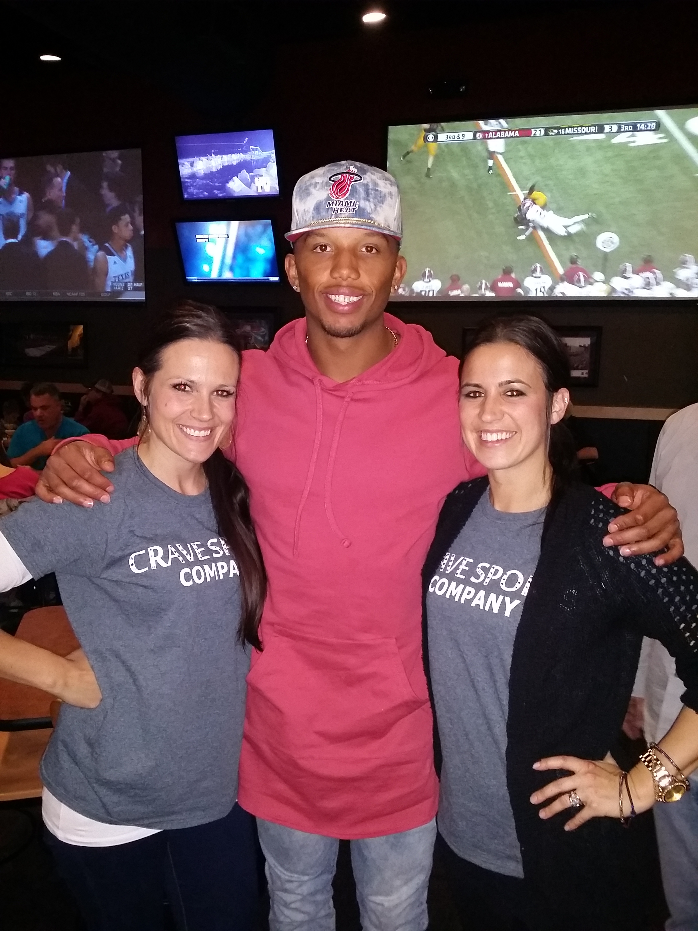 The girls with Charles Johnson