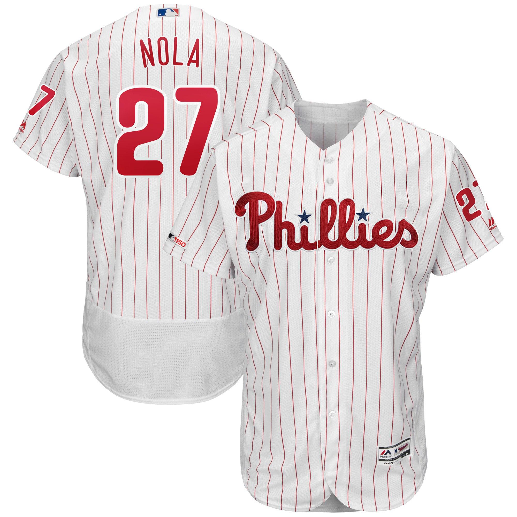 Replica or Authentic Nola Pinstripe Phillies Jersey