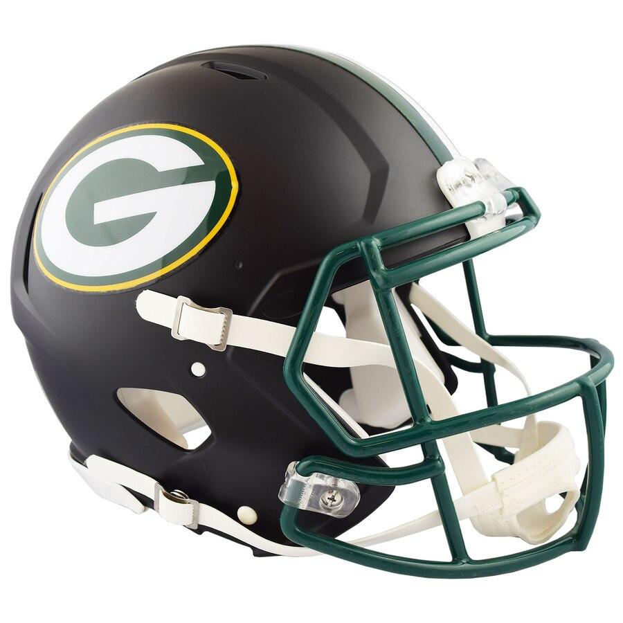 Packers Authentic Black Matte Speed Helmet