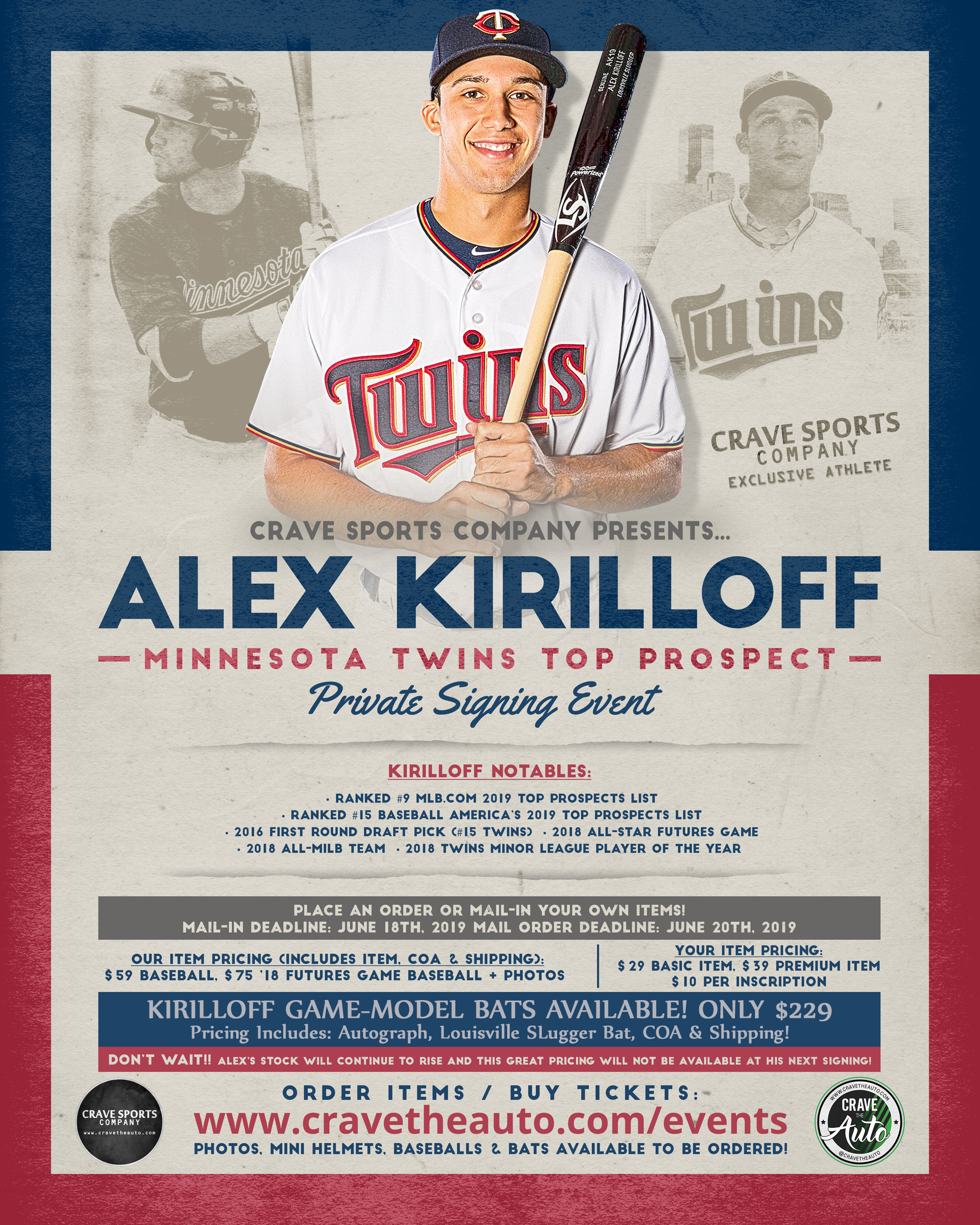 ALEX KIRILLOFF Minnesota Twins | Private Signing — Crave the Auto