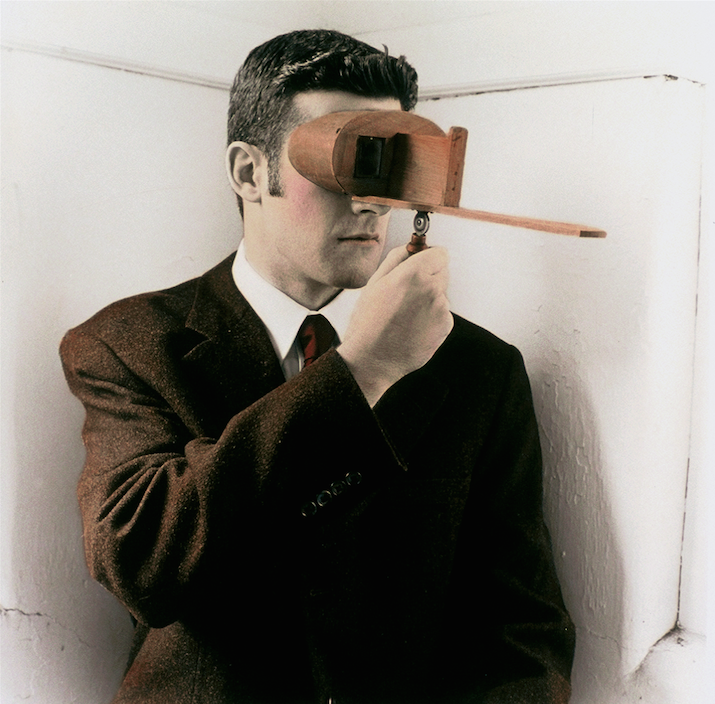 Brendan with a Stereoscope #2
