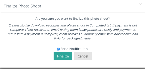 Make sure the Send Notification is checked, otherwise our client won't get their email.