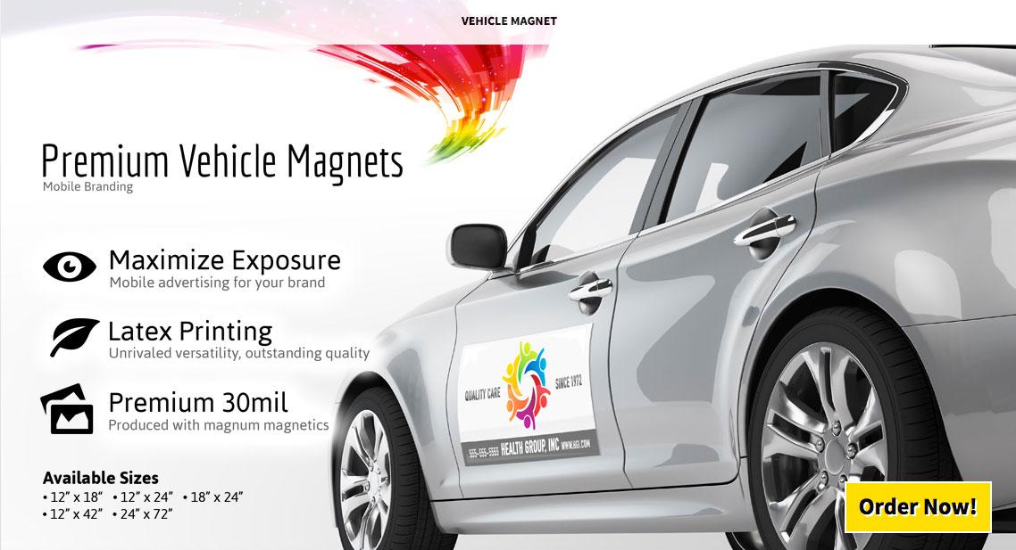 Premium Vehicle Car Auto Magnets - Full Color