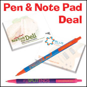 Special Sale. BIC Pens and sticky notepads