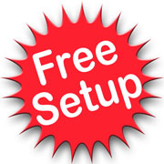 Free promotional product set-up