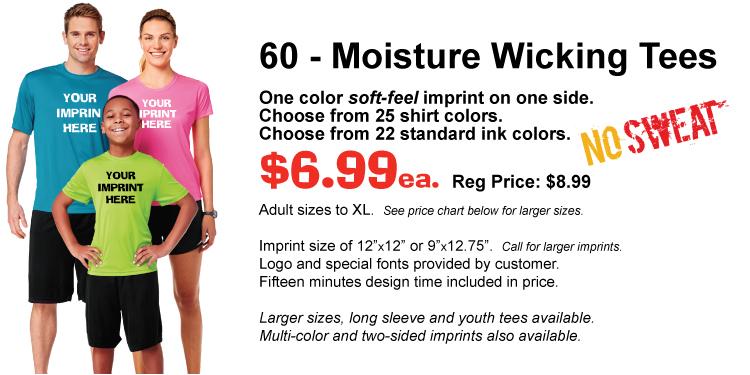 Dri-Fit T-shirts, cheap.