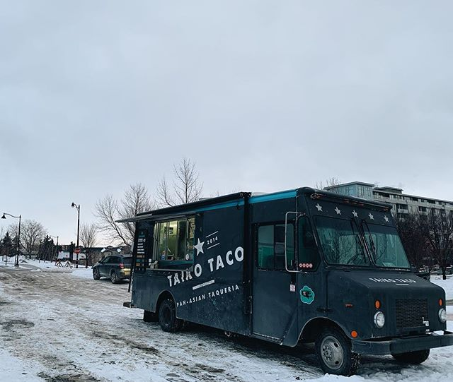 Spring is just around the corner, and so is Taiko taco! First real lunch service of the year going down today at Legacy Kitchens 11a - 1p  Treat yo'self 🌮💯 #getlucky #letstaikoboutit #yyceats