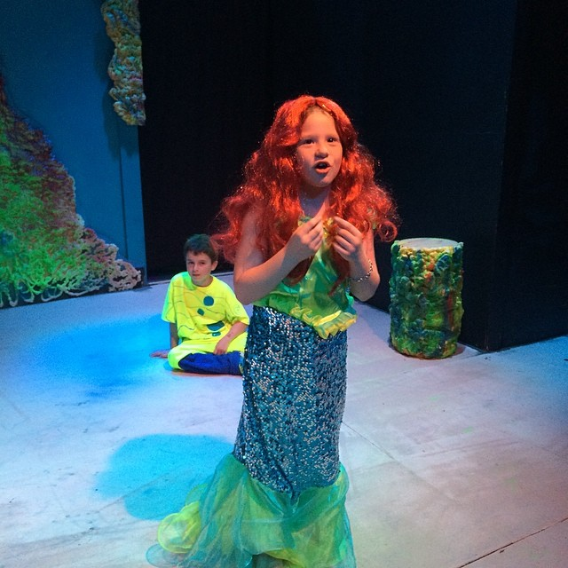 At Plainview the students performing The Little Mermaid!