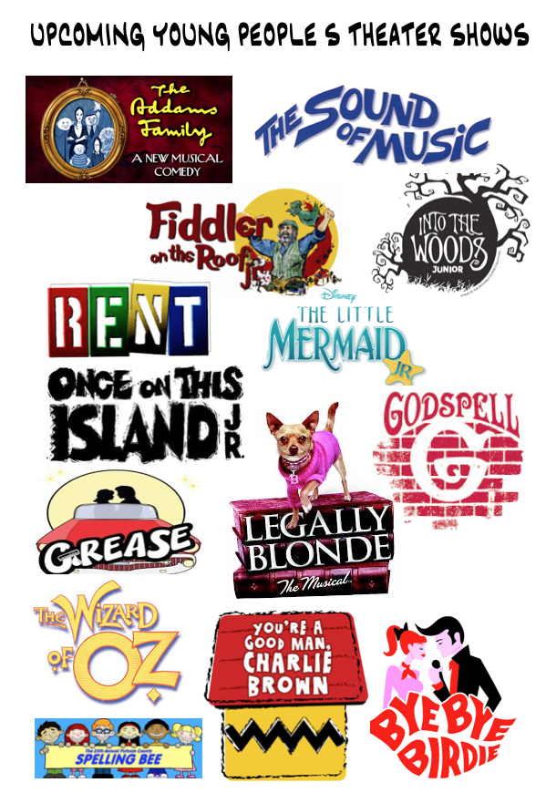 Shows under consideration for the 2014 Season. Not all shows for all ages!