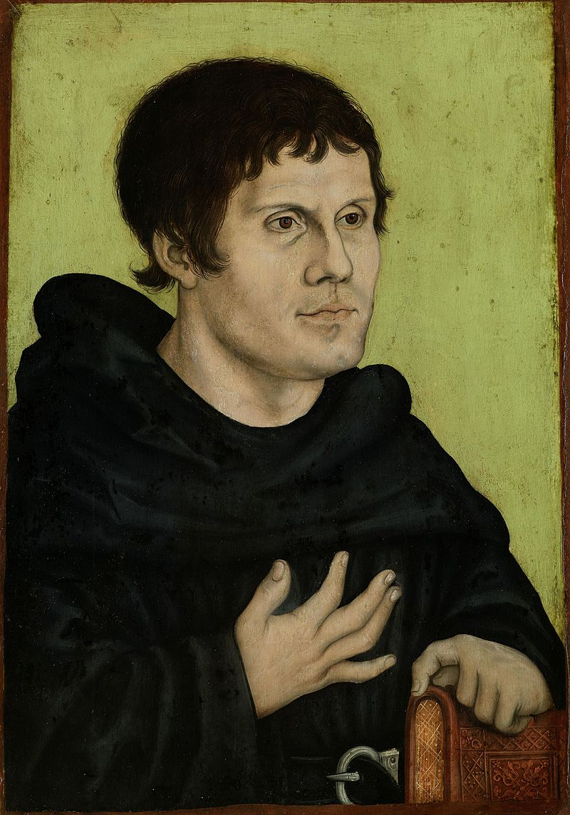 Martin Luther by Lucas Cranach the Elder [Public domain], via Wikimedia Commons