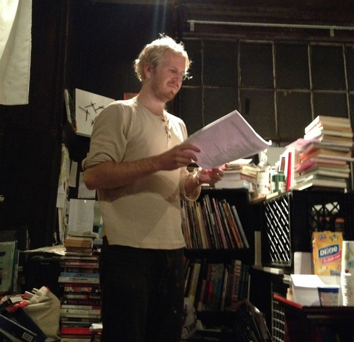 Matt Nelson will be reading at  The Difficult to Name Reading Series on March 28 .