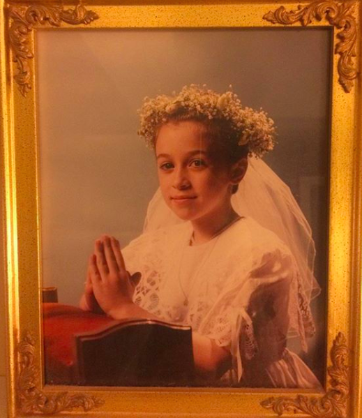 Kelly Conaboy (pictured above at her first communion) will be reading at  Difficult to Name on Saturday, January 13