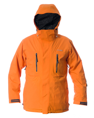 Niseko Men's Jacket - Orange / Black Zips